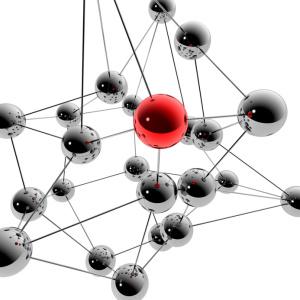 3D-Illustration / 3D-Grafik: Social Media und Netzwerk
